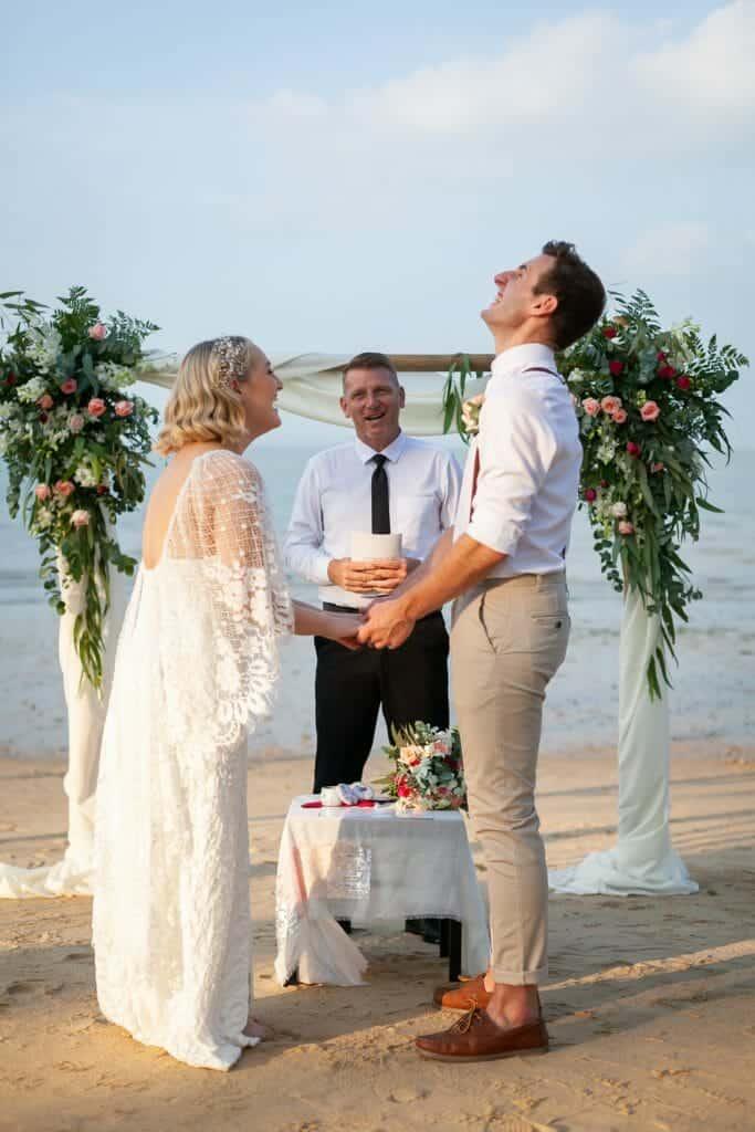 Beach Wedding Photographs - Coconut Island Resort Phuket 46