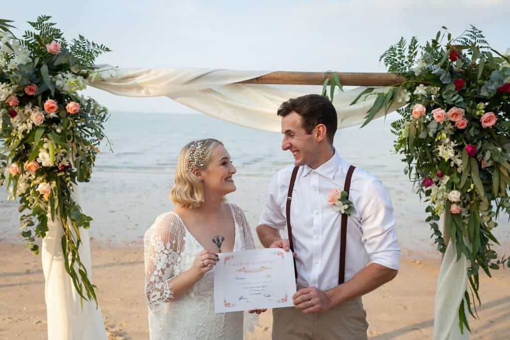 Beach Wedding Photographs - Coconut Island Resort Phuket 55