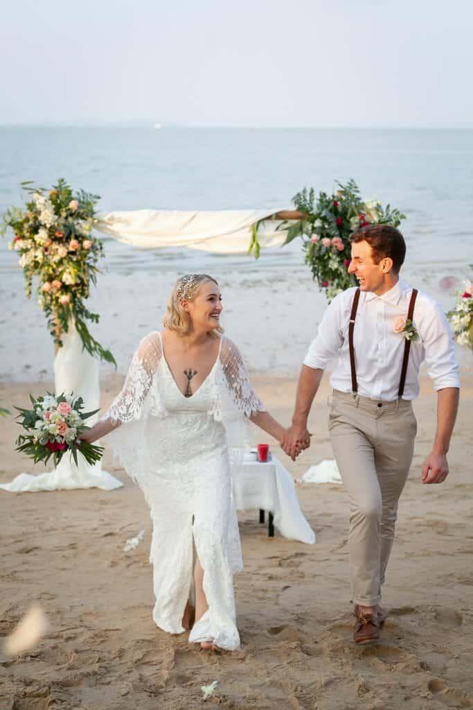 Beach Wedding Photographs - Coconut Island Resort Phuket 62